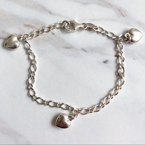 Jewelry - Sterling Silver Charm Heart Bracelet